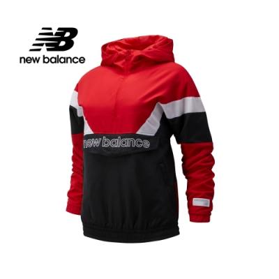 New Balance棒球系列色塊拼接半開襟上衣_女_紅色_AWJ93515REP