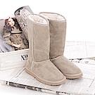 【TOPGIRL】內裡絨棉防寒雪靴-淺卡其