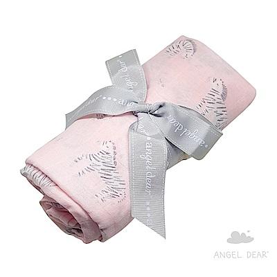 美國 Angel Dear 竹纖維嬰幼兒包巾禮盒 (小斑馬)