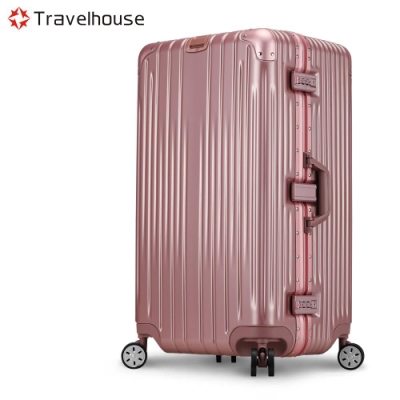 Travelhouse尊爵典藏II 29吋運動款鋁框行李箱玫瑰金