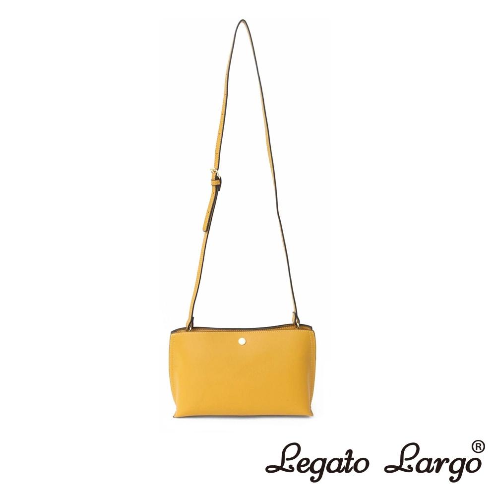 Legato Largo 驚異的輕量化 小法式輕便簡約 斜背小方包 芥末黃