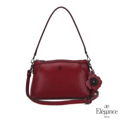 【Elegance】SHOMON 2WAY肩背包-酒紅色