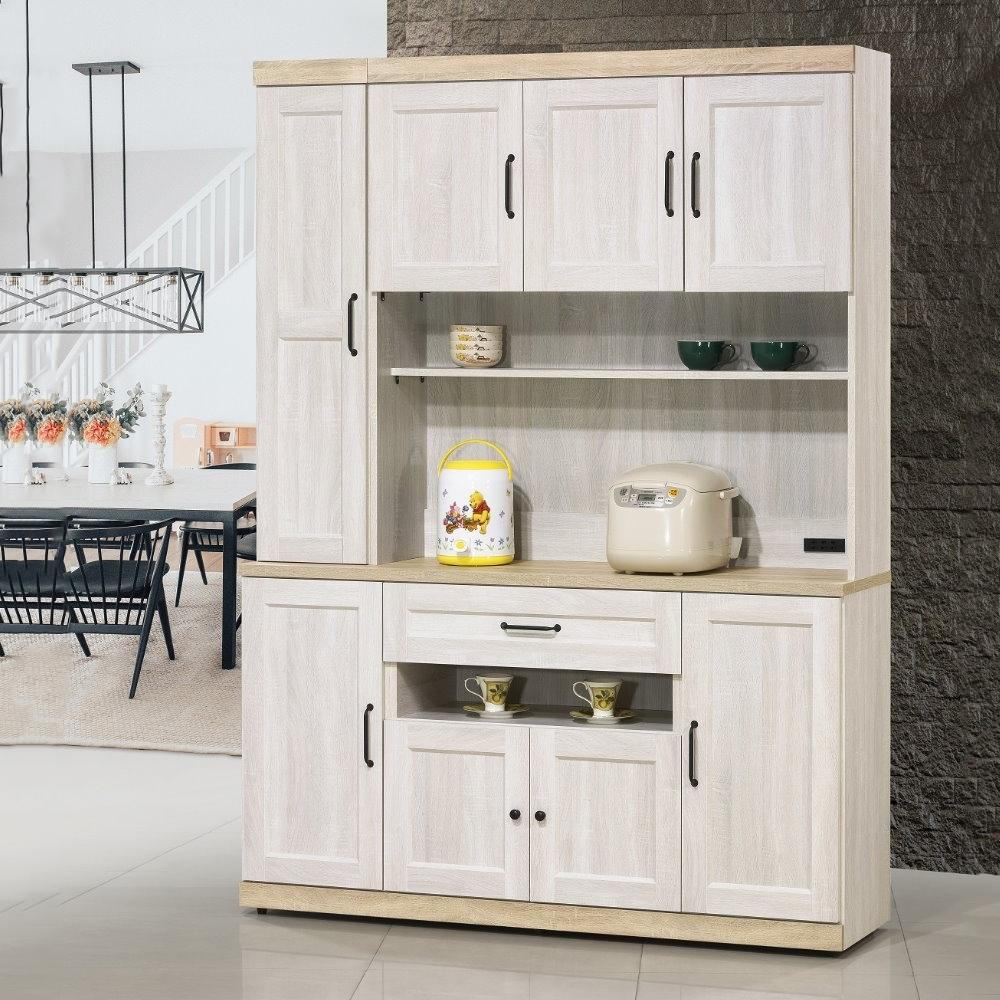 MUNA 泰倫斯5尺白橡木色餐櫃(全組)  150.3X40X203.5cm