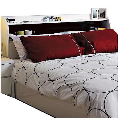品家居 亞地5尺雙人床頭箱(附便利插座)-152x20x94cm免組