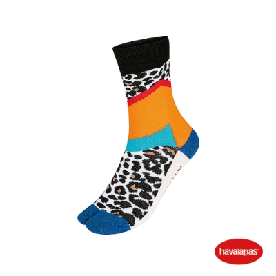 Havaianas 哈瓦仕 襪子 分趾襪 巴西 男女襪 白/藍 4145804-0093S Print