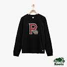 ROOTS男裝  周年系列R logo長袖T恤-黑色
