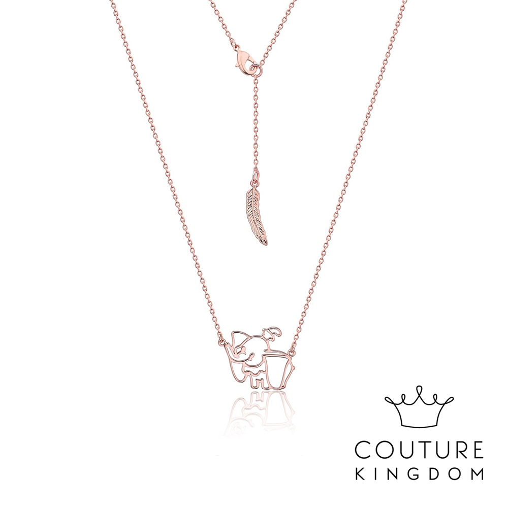 Disney Jewellery by Couture Kingdom 小飛象鍍玫瑰金項鍊