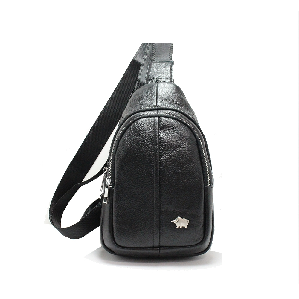 DRAKA達卡 - 路易XIV系列- 牛皮單肩斜背胸包-暗黑