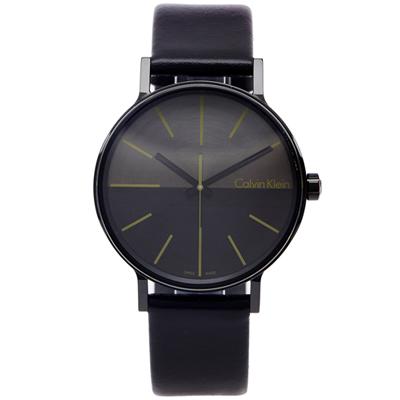 CK Boost 簡約時尚款手錶(K7Y214CL)-灰與黑色面/41mm