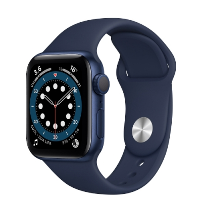 Apple Watch Series 6 (GPS) 40mm 藍色鋁金屬錶殼+藍色錶帶(MG143TA/A)