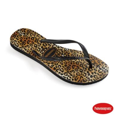 Havaianas 哈瓦仕 拖鞋 夾腳拖 人字拖  巴西 女鞋 黑 4145480-1069W Slim Leopard 豹紋