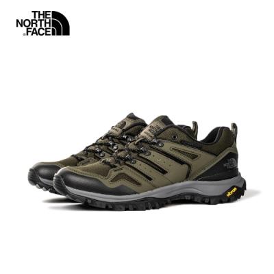 The North Face北面男款綠黑色防水透氣抓地登山鞋|4T37BQW
