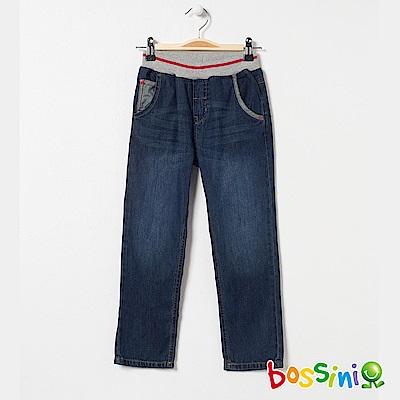 bossini男童-輕鬆牛仔長褲01靛藍