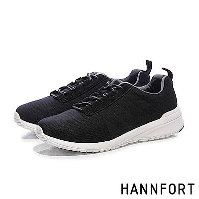 HANNFORT RS8彈性布復古氣墊休閒鞋-男-復古黑