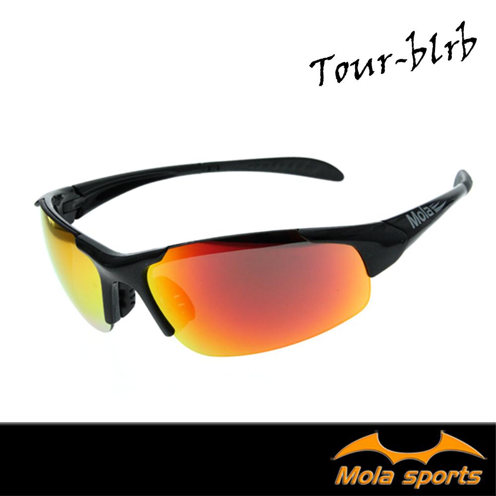MOLASPORTS摩拉兒童運動太陽眼鏡8-12歲UV400多層彩色鍍膜Tour-blrb