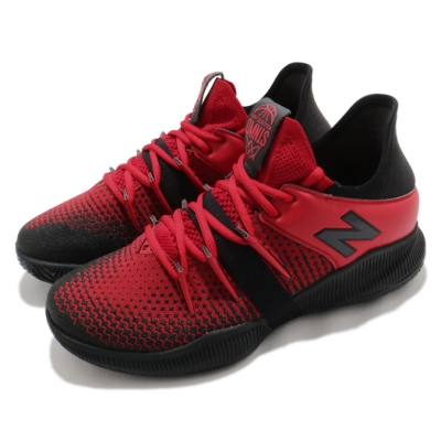 New Balance 籃球鞋 OMN1S Low Wide 寬楦 男鞋 紐巴倫 避震 包覆 支撐 運動 球鞋 紅 黑 BBOMNLBR2E