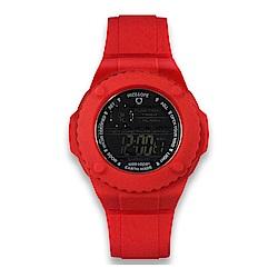 Wize&Ope Gummy系列 歐美潮流指標限定腕錶- 炫紅/54mm