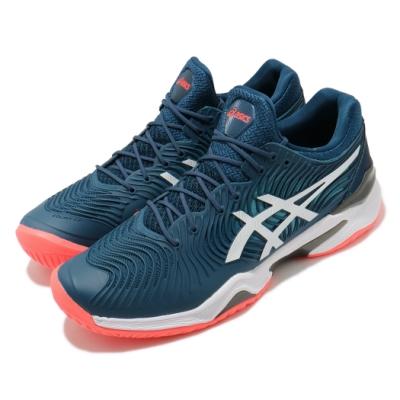 Asics 網球鞋 Court FF 2 運動 襪套式 男鞋 亞瑟士 Djokovic  包覆 穩定 藍 紅 1041A083400