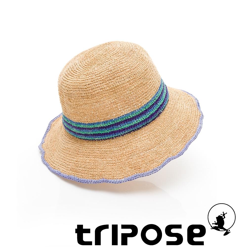 tripose HEDY 100%手工Raffia時尚遮陽草帽-帽簷8cm(自然色)