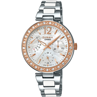 SHEEN 光彩耀眼時尚腕錶(SHE-3042SG-7A)33mm