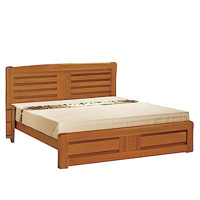 綠活居 利比時尚6尺實木雙人加大床台(不含床墊)-184x203.5x106cm免組