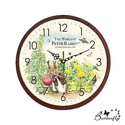 原廠授權比得兔Peter Rabbit彼得兔-比得兔與班傑明靜音大壁鐘