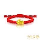 今生金飾 Q版貔貅串珠 純黃金手繩