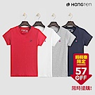 [時時樂限定]-Hang Ten-女裝-有機棉logo圓領T恤-多色選