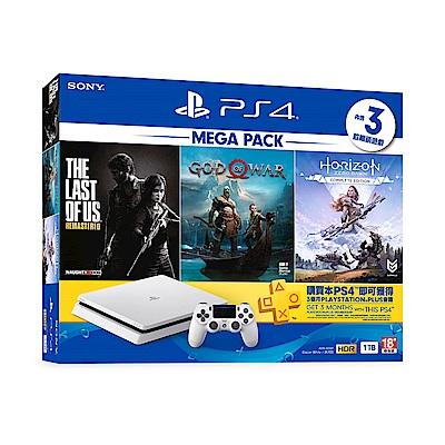 PS4-MEGA PACK 同捆組 1 (白)