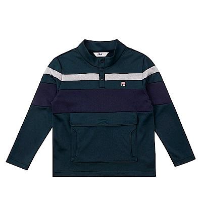 FILA KIDS 立領上衣-綠 1TES-8402-GN