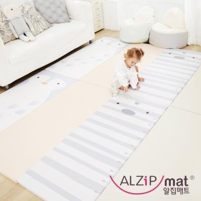 【ALZiPmat】韓國手工製 ZOO MAT 動物四折折疊墊 - 企鵝斑馬