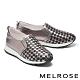 休閒鞋 MELROSE 率性潮感編織造型全真皮厚底休閒鞋-古銅 product thumbnail 1