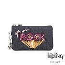 Kipling 閃耀ROCK單寧風三夾層配件包-CREATIVITY L