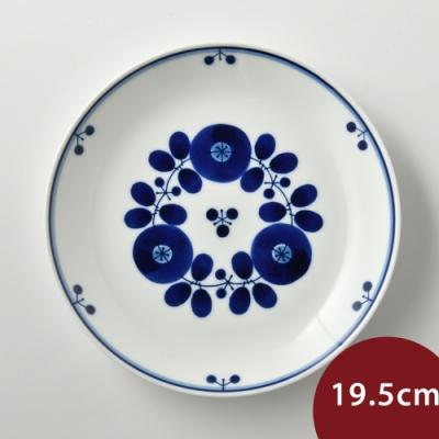 日本Hakusan白山陶 BLOOM 圓形餐盤 花中間 19.5cm