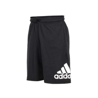adidas 男運動短褲-五分褲 慢跑 路跑 愛迪達 黑白