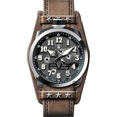 BOMBERG 炸彈錶 BOLT-68 復古飛行錶-灰x咖啡/45mm