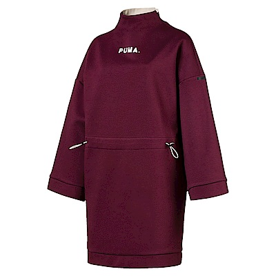 PUMA-女性流行系列Chase連身裙-濃暗紅-亞規