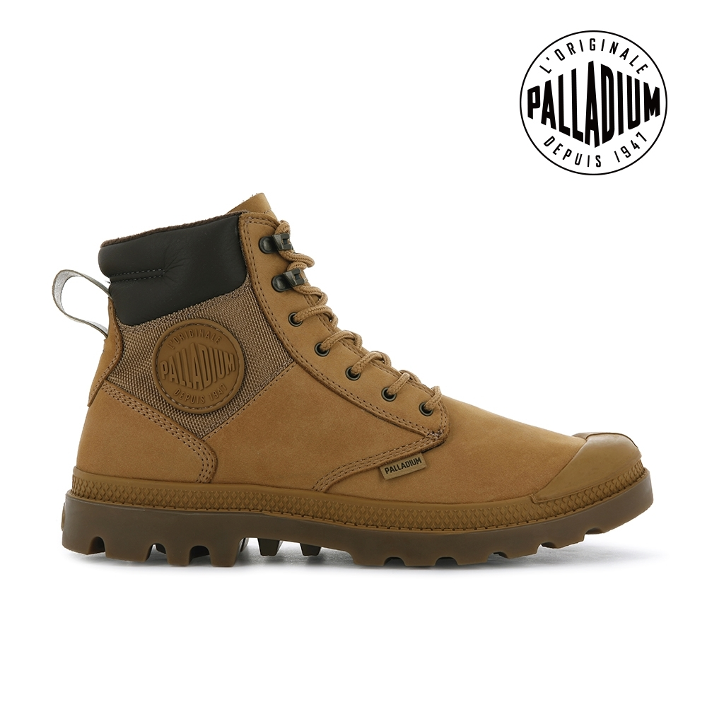 PALLADIUM PAMPA SHIELD WP+ LUX皮革防水靴-中性-琥珀棕