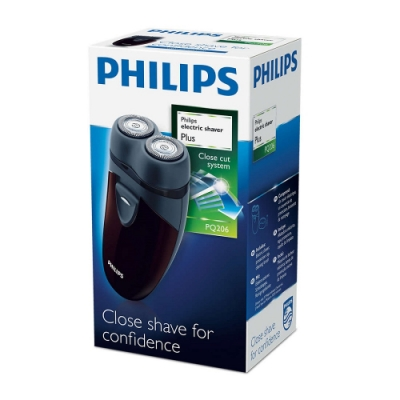 PHILIPS飛利浦 雙刀頭電動刮鬍刀 PQ206