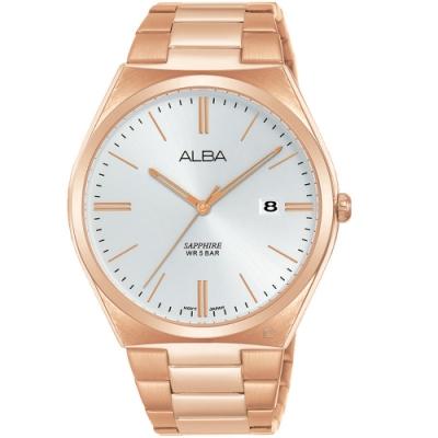 ALBA雅柏簡約時尚手錶(AS9J60X1)-玫瑰金