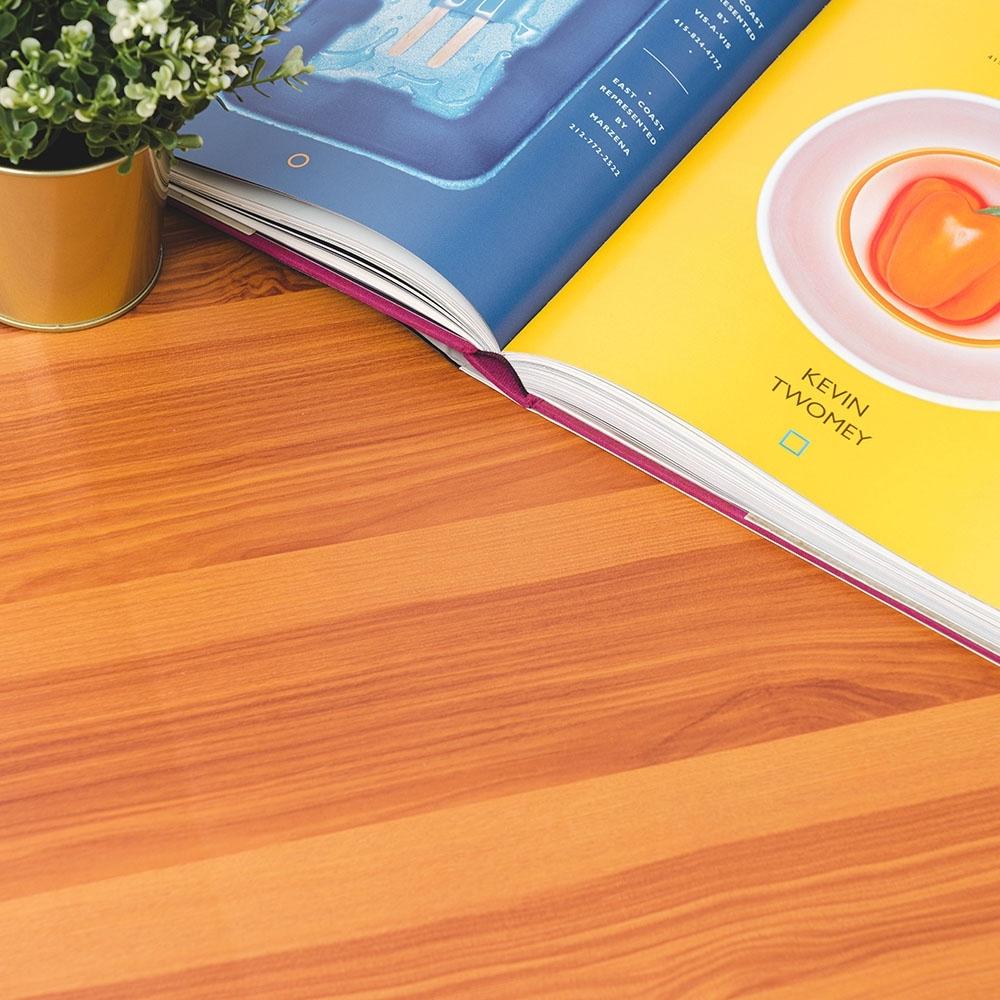 樂嫚妮 DIY裝修加厚防水仿木紋壁貼 60X300cm-柚木紋色