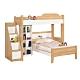 Boden-貝爾3.5尺單人多功能雙層床組(3.5尺高架床+3.5尺床架+樓梯櫃+收納櫃) product thumbnail 1