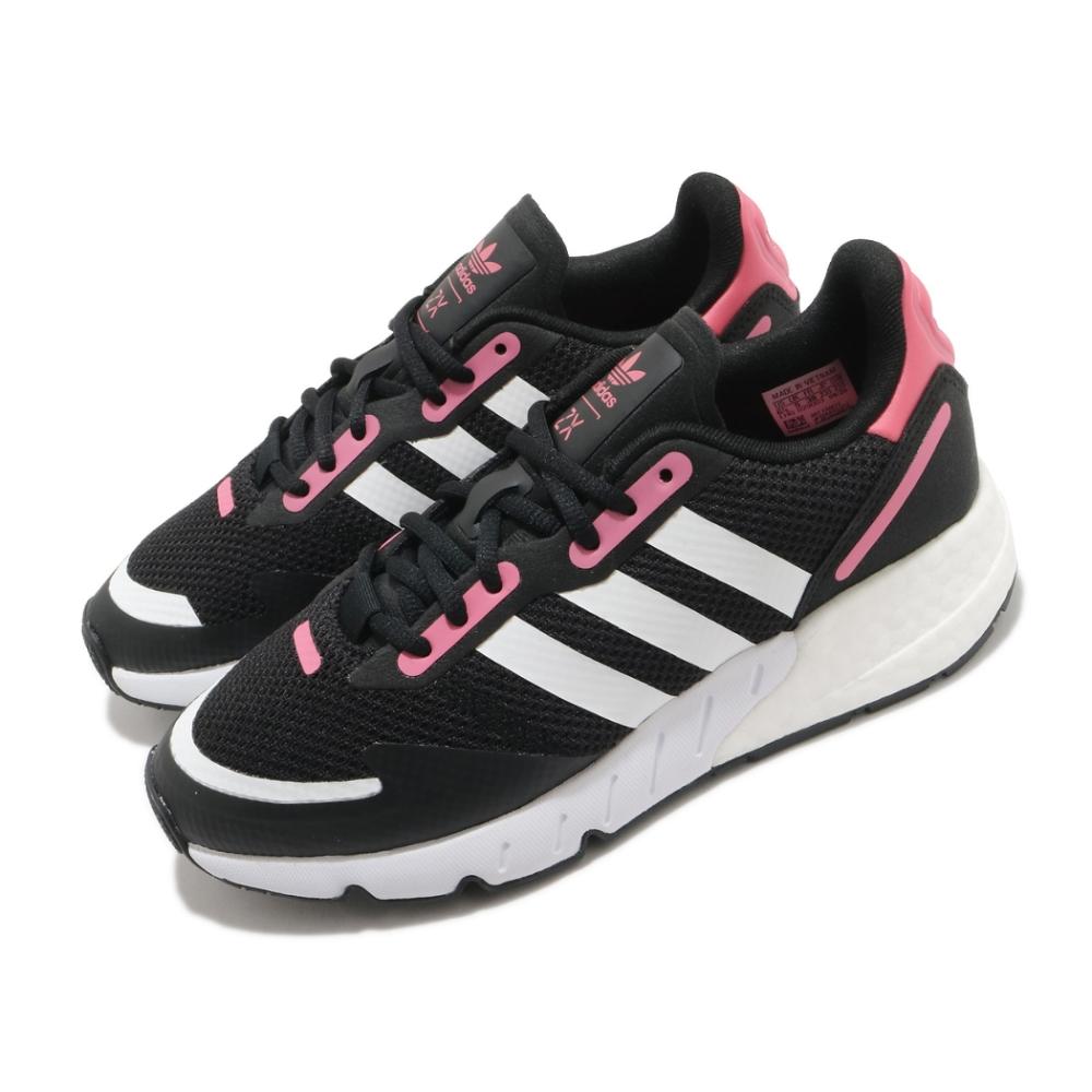 adidas 休閒鞋 ZX 1K Boost 運動 女鞋 愛迪達 三線 緩震 基本款 球鞋穿搭 黑 粉 FX6872