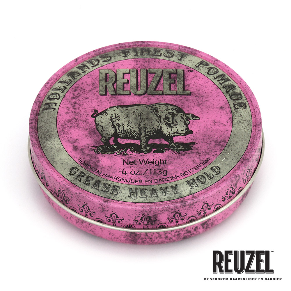 REUZEL Pink Pomade Grease粉紅豬超強髮油113g