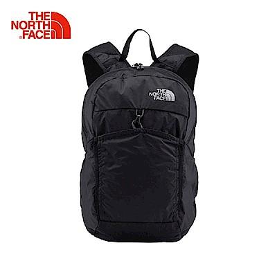 TheNorthFace北面黑色輕便可打包戶外雙肩背包   CJ2ZKT0
