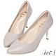 Ann'S優雅韻味-頂級小羊皮夾心電鍍銀跟尖頭鞋-紫灰 product thumbnail 1