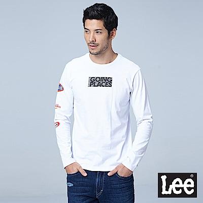 Lee 徽章刺繡長袖圓領Tee/RG