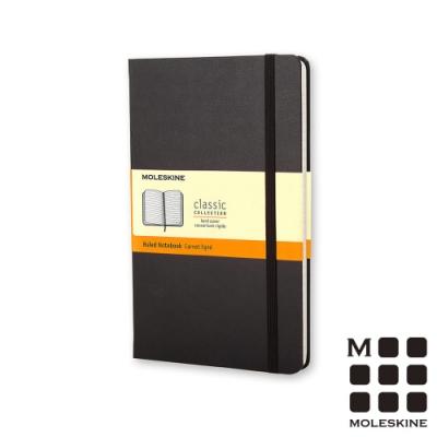 MOLESKINE 經典黑色硬殼筆記本(口袋型)-橫線