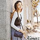 KINAZ 愛戀幾何多用斜背包-華麗黑-城市輕旅系列