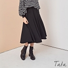 傘狀拼接棉質裙 共二色 TATA-F